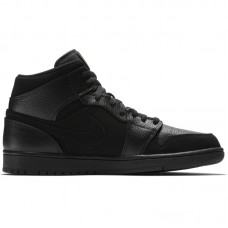 Air Jordan 1 Mid Triple Black