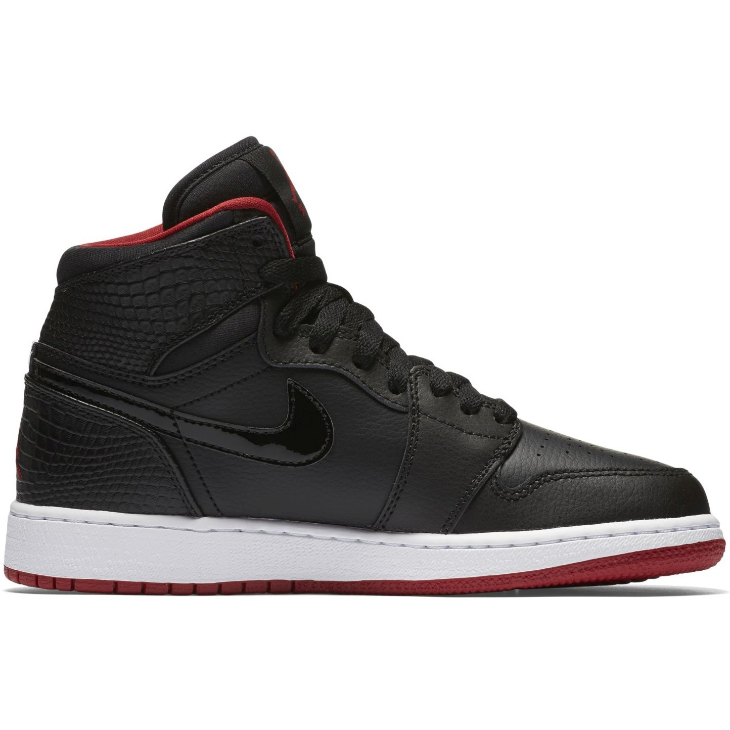 Air Jordan 1 Retro High GS Black Gym Red White - Laisvalaikio batai