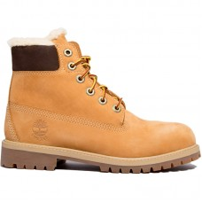 Timberland 6 Inch Premium Waterproof Shearling Lined Junior Boots