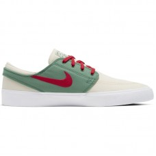 Nike SB Zoom Janoski Low Canvas RM Pale Ivory White Evergreen Atom Red - Laisvalaikio batai