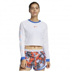 Nike Wmns Floral Cropped Running marškinėliai