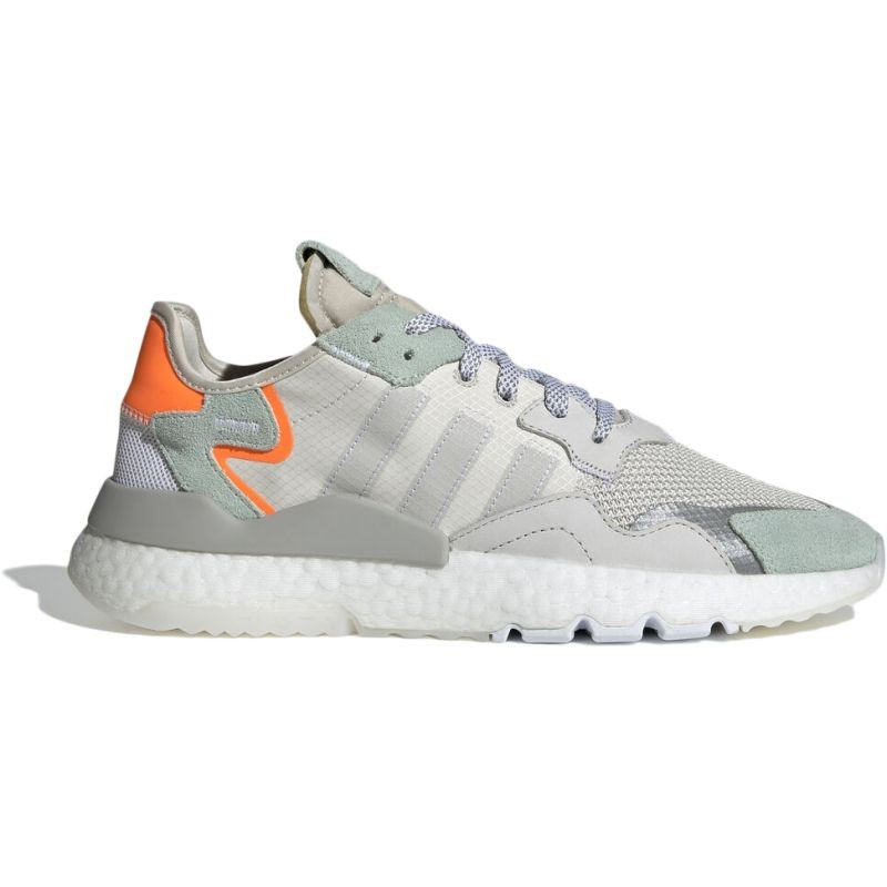 adidas Originals Nite Jogger Boost Grey One Vapour Green - Laisvalaikio batai