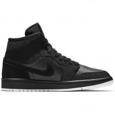 Air Jordan Wmns 1 Mid Glitter Black