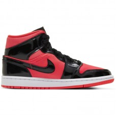 Air Jordan Wmns 1 Mid Hot Punch Black