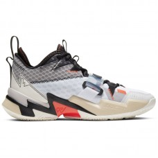Air Jordan Why Not Zer0.3 Russell Westbrook White Bright Crimson Black - Krepšinio bateliai