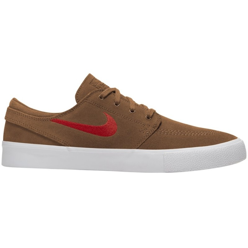 Nike SB Zoom Janoski Low Suede BG British Tan Mystic Red White - Laisvalaikio batai