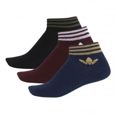 adidas Originals Trefoil Ankle Stripes kojinės (3 poros)