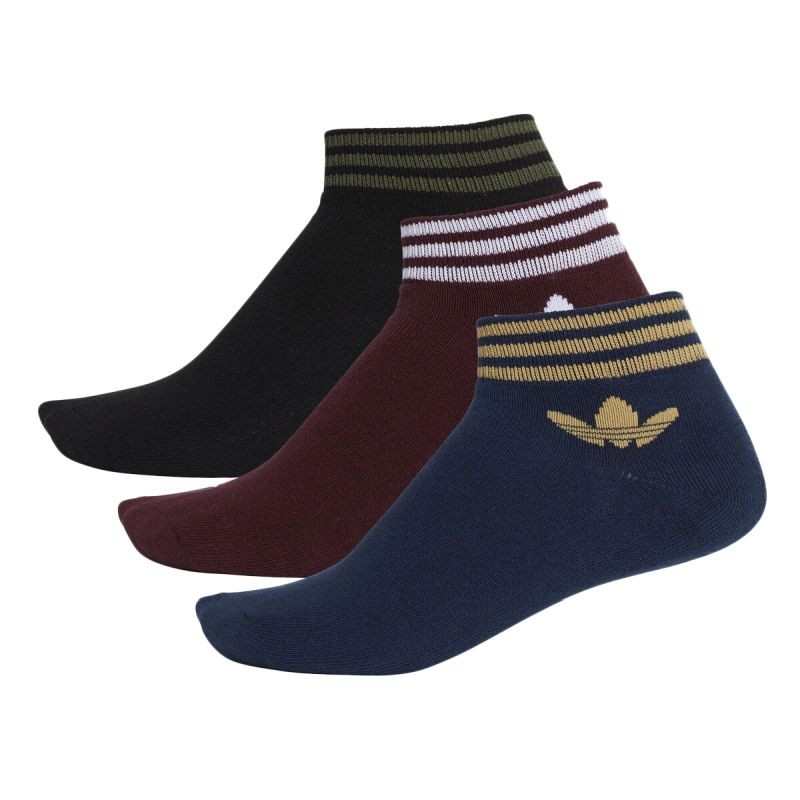 adidas Originals Trefoil Ankle Stripes Socks (3 Pack) - Kojinės