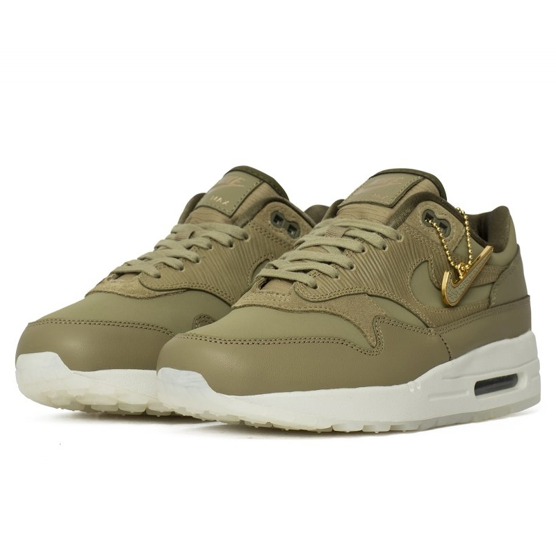 Nike wmns Air Max 1 1 1 premium mujer neutral Olive neutral Olive zapatillas 454746.... 0d05f5